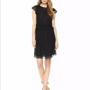 Ella Moon smocked waist black lace dress large